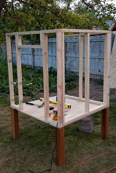 diy chicken coop- easy start :P www.merrywoodfarmnc.com They make it look so easy! :-/