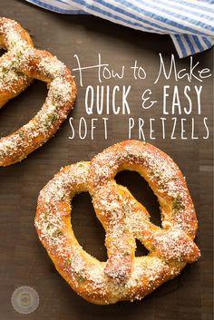 Garlic Parmesan Soft Pretzels Baked