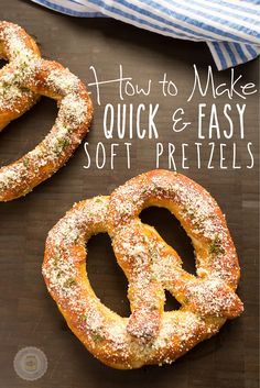 Learn how to make quick and easy pretzels in just over an hour | Little Spice Jar