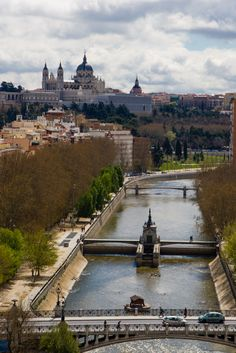 Royal Palace and River from Madrid Cable Car
