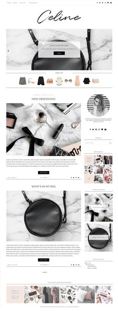 Premade Blogger template design for fashion, beauty and lifestyle bloggers. Find more feminine blog themes at www.blogpixie.com