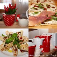 Lefse med parmaskinke, basilikumkrem og soltørket tomat | TRINEs MATblogg