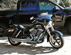 Guidon Ape Hanger 10 pour Harley Dyna Low Rider//S//Fat Bob Noir