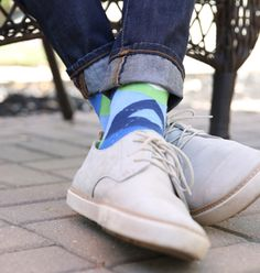 Blue is diverse, bold and easy to pair with just about anything. This pair of Statement Sockwear provides a great summer option for your wardrobe. Plus, every purchase provides 100 days of clean water for someone in Africa. Shop this sock and more.