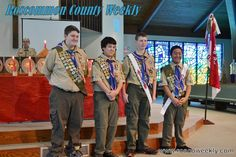 "Four Scouts Honored for Achieving ""Eagle Scout"""