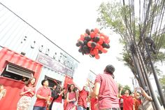 Baloon released as symbol of grand launching