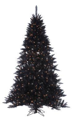 7.5\' Black Ashley Spruce Tree w/ 700 Clear Lights