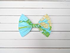 """Lilly Pulitzer """"Racy Lacy"""" in Blue Fabric Hair Bow for Girls/Teens/Adults with French Barrette or Alligator Clip Girl Hair Bows, Girls Bows, Fabric Hair Bows, Cute Bows, Barrette, Blue Fabric, Lilly Pulitzer, French, Etsy"""