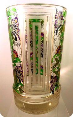 Art Deco Glasfaschule Haida or Steinschönau Pokal   Czech Glass ...