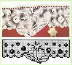 Kate's Crochet World Filet Crochet Charts, Crochet Borders, Crochet Diagram, Crochet Patterns, Crochet Curtains, Crochet Doilies, Crochet Flowers, Crochet Lace, Thread Crochet
