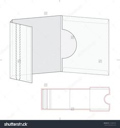 Dvd & Cd Folder With Zipper Lock And Die Cut Template Stock Vector Illustration 372408109 : Shutterstock
