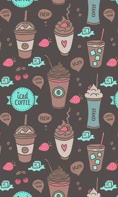 Imagen de wallpaper, coffee, and background Wallpaper Free, Tumblr Wallpaper, Mobile Wallpaper, Pattern Wallpaper, Wallpaper Quotes, Cute Backgrounds, Cute Wallpapers, Wallpaper Backgrounds, Iphone Wallpaper