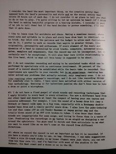 Steve Albini's Letter to Nirvana - Part 2