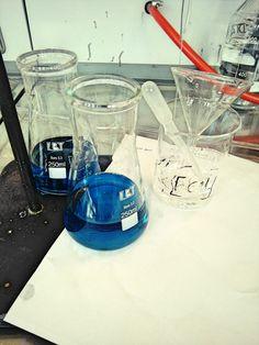 Beautiful blue color in laboratory 💖