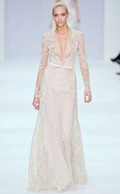 summer, fashion, couture, elie saab, bohemian, white lace, dress,