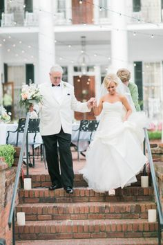 The beautiful bride and her father: http://www.stylemepretty.com/mississippi-weddings/natchez-mississippi/2015/08/21/classic-southern-wedding-2/ | Photography: Luke & Cat - http://lukeandcat.com/