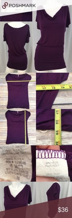 🎒Sz Medium Bella D Dolman Sleeve Mini Dress Plum Measurements are in photos. Normal wash wear, no flaws. D3  I do not comment to my buyers after purchases, do to their privacy. If you would like any reassurance after your purchase that I did receive your order, please feel free to comment on the listing and I will promptly respond. I ship everyday and I always package safely. Thanks! Bella D Dresses Mini