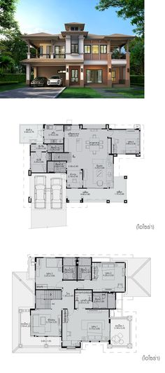 IZORA Dream House Plans, Modern House Plans, Small House Plans, Modern House Design, House Floor Plans, Home Building Design, Home Design Plans, Building A House, Villa Plan
