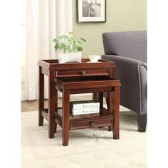 Wander Pine End Table and MDF with Paper Veneer Cherry (Red) Nesting