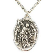 St. Michael vintage medal necklace.  My Husband's Baptism name is Michael, this would be an awesome gift for him. :)