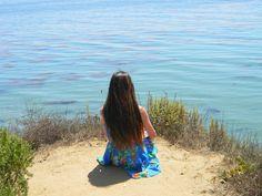 #girl #beach #dress #flowers #beautiful #california #coast #green #blue #water #summer #sumemr #summer #brown #brunette #longhair #hair #fashion #hipster #tumblr #vintage #hill #mountain #beauty #young #girl