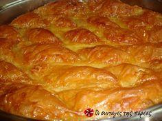 Γαλακτομπούρεκο επαγγελματική συνταγή #sintagespareas Greek Sweets, Greek Desserts, Party Desserts, Greek Recipes, Greek Cake, Greek Cooking, Holiday Baking, How To Make Cake, Cake Cookies