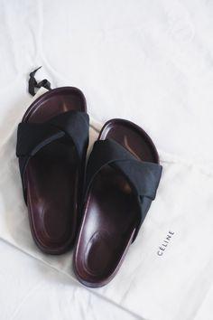Celine slide sandals #shoes #style #fashion