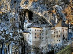 10min away from my town, Predjama Castle, Slovenia. Castle build in cave under the mountain.