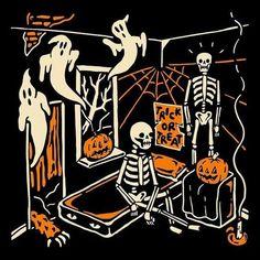 Halloween Countdown, Retro Halloween, Creepy Halloween, Halloween Horror, Halloween House, Holidays Halloween, Halloween Themes, Happy Halloween, Halloween Party