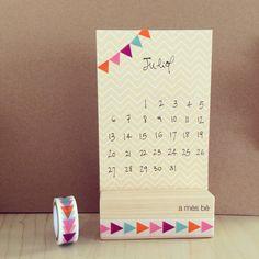 July • Juliol • Juillet • Julio #calendar #washitape