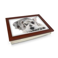 Schnauzer Dog Lap Tray Personalised Gifts Unique, Unique Gifts, Great Gifts, Lap Tray, Schnauzer Dogs, Breakfast In Bed, Design Your Own, Wooden Frames, Cleaning Wipes