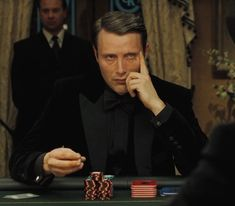 Bond Villian: Copenhagen's Mads Mikkelsen as Le Chiffre in the 2006, 007 James Bond film Casino Royale.