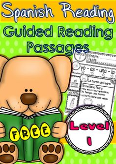 Spanish Reading - Guided Reading Passages - Level 1 FREE from Ready to Teach English and Spanish on TeachersNotebook.com -  (7 pages)  - Spanish Reading Set is a product made for starter level of Spanish in Kinder and First graders.