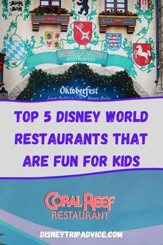 You've had an amazing morning in the parks, but now you're excited to have an hour to recharge and enjoy the restaurant you booked 6 months ago. The problem is, it's hard to know which ones your kids will enjoy and which ones they will be begging to leave so they can go on the next ride. We've compiled our suggestions for the best non-character Disney world restaurants that are fun for kids, allowing you to enjoy your meal. Disney World Food | Disney World with Kids | Disney World Planning Orlando Theme Parks, Disney World Theme Parks, Disney World Food, Disney World Planning, Disney World Vacation, Disney Vacations, Disneyland Restaurants, Best Disney World Restaurants, Disneyland Food