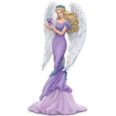Amazon.com - Thomas Kinkade Alzheimer's Support Angel Figurine: Caring - Collectible Figurines
