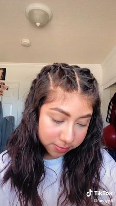 Cute Simple Hairstyles, Easy Hairstyles For Long Hair, Girl Hairstyles, Baddie Hairstyles, Hairstyles Videos, Bandana Hairstyles, Rocker Hairstyles, Open Hairstyles, Pigtail Hairstyles