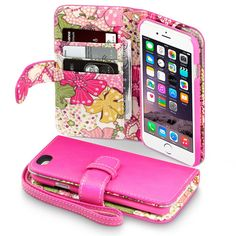 Apple iPhone 6 PU Leather Wallet Case by mane11 on Etsy