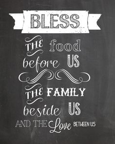 family chalkboard printable..♥ this one!