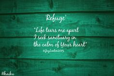 A little something in support of National Poetry Month and #haiku day - #poetry #refuge