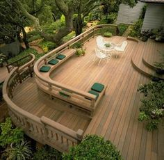 Teak Outdoor Garden Furniture is made from the teak tree discovered in the tropical area of Javanese. Most companies that build teak outdoor garden furniture. Patio Deck Designs, Patio Design, House Design, Wood Patio, Backyard Patio, Nice Backyard, Wood Decks, Outdoor Garden Furniture, Outdoor Decor