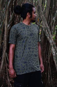 b346da6d21cc5 Indian art T shirt-Graphic mens shirt Warli art by CreativeCult Printed  Tees