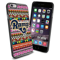 """St. Louis Rams Aztec iPhone 6 4.7"""" Case Cover Protector for iPhone 6 TPU Rubber Case SHUMMA http://www.amazon.com/dp/B00VR1A8C6/ref=cm_sw_r_pi_dp_P6x.vb0P623AN"""