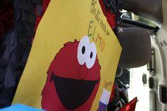 Sesame street game: pin the nose on Elmo