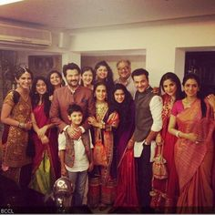 Anil Kapoor and Sonam Kapoor celebrate Diwali at home with their family.