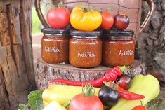 Adžika (omáčka) Stuffed Peppers, Vegetables, Food, Stuffed Pepper, Essen, Vegetable Recipes, Meals, Yemek, Stuffed Sweet Peppers