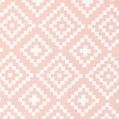 Tissu en coton Nordic - Style Scandinave - Lozenges in Pink x10cm