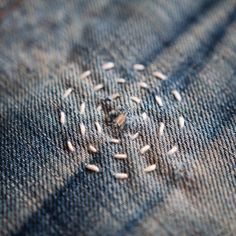 sashikodenim - - - If it's important put a circle around it - - - #sashikodenim #handstitched #denimart #repairdontreplace #denham #butcherofblue #denim #repair #denimlove #repairartist #repairart #sashiko #stitch #slowlife #slowmade #slowwear #wabisabi #details #denim #oneofone #neverfollow #mending #makerlife