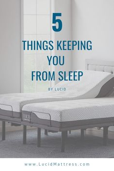 Here are five things that may be hindering your sleep duration and quality.