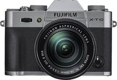 Fujifilm - X-T10 Mirrorless Camera with XC 16-50mm f/3.5-5.6 OIS II Lens - Silver, 16471380