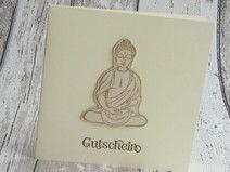 Grußkarte Gutschein Buddha